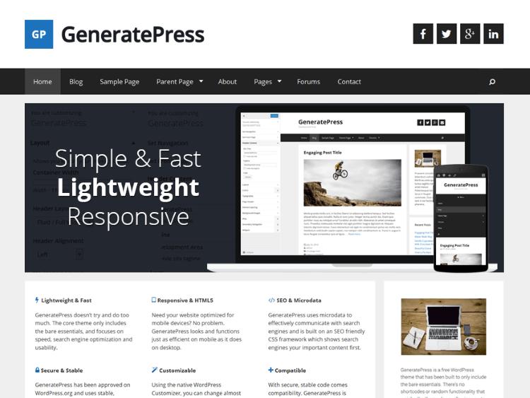 how to set the correct plugins wordpress generatepress