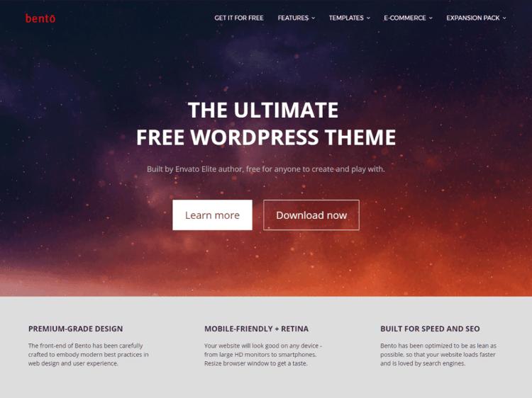 how to design a wordpress blog bento