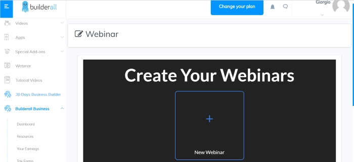 builderall create webinars