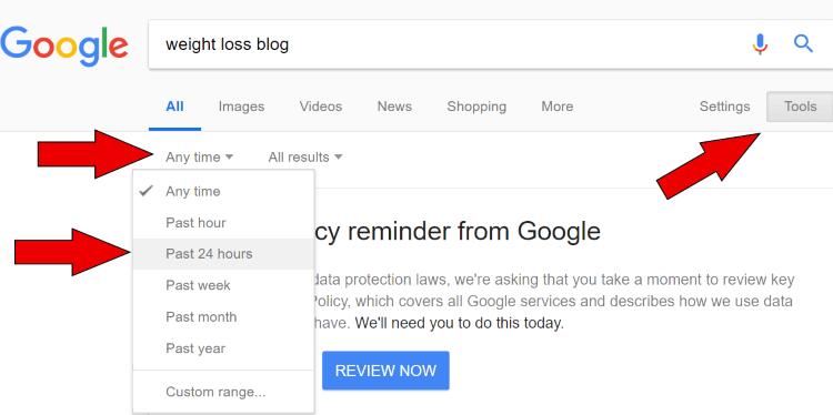 google recent articles