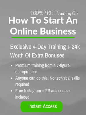 How to start an online business training