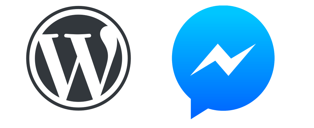 wordpress website and messenger marketing chatbot